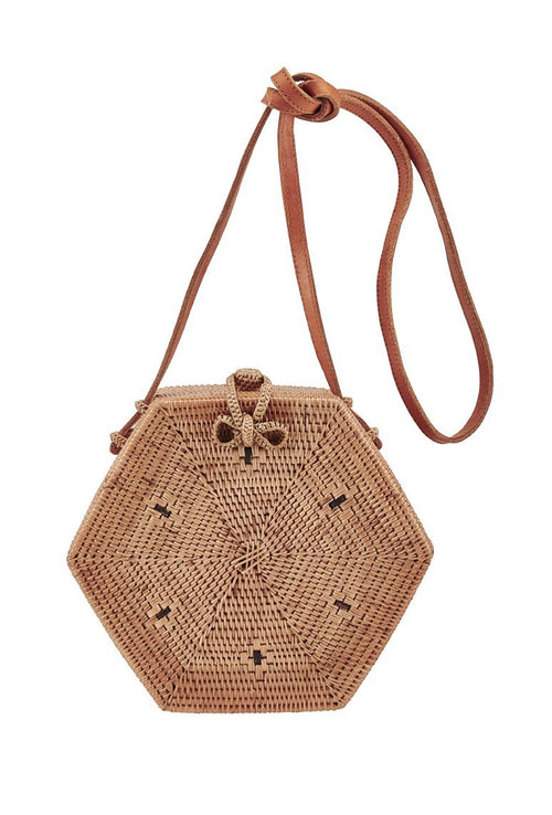 Handwoven Hexagon Bag (BSB3572)