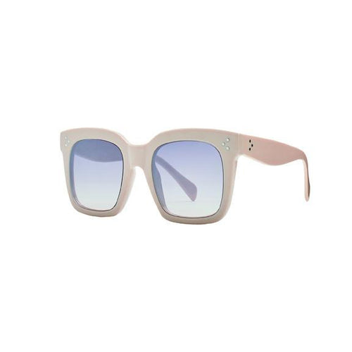 Beige Square Solid Frame Sunglass (BSG1085)
