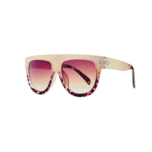 SHEILD SHAPE TWO TONE SUNGLASSES (BSG1087)