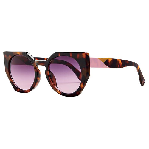 Cat Eye Tortoise Geo Color Detail With Smoke Gradient Lens  (Bsg1126)