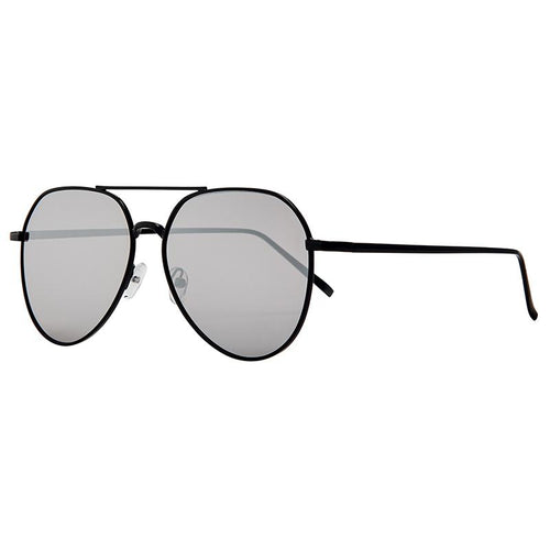 Oversized Aviator With Silver Mirror Lens (Bsg1140)