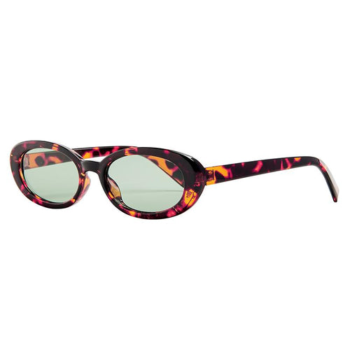 Skinny Oval Tortoise Frame With Light Lens  (Bsg1142)