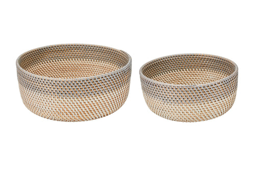 Large hand-woven bowl (Set of 2) (BSHSET1049)
