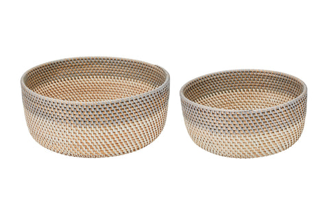Hand-woven mini basket (set of three) (BSHSET1048)