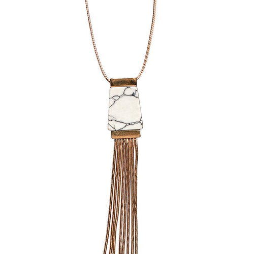 Pendant with metal fringe necklace (BSJ3511)