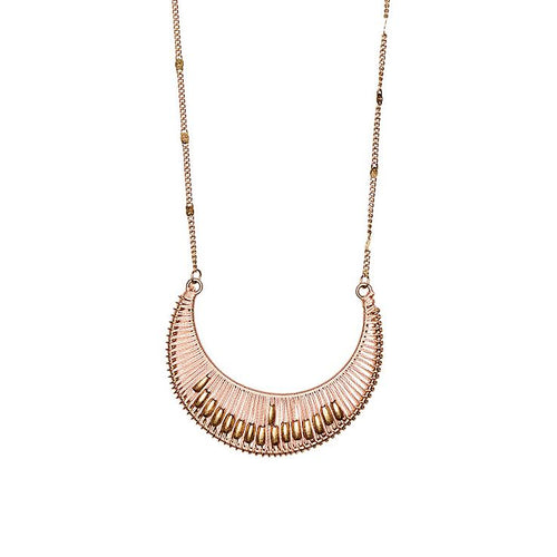 Crescent Pendant Necklace (BSJ3525OSGLD)