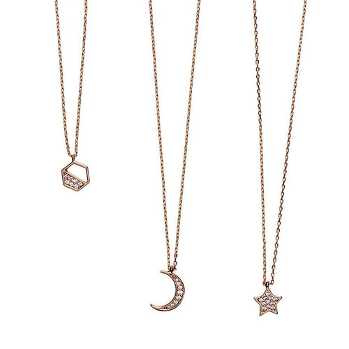 Triple celestial gold necklace set (BSJ3542)