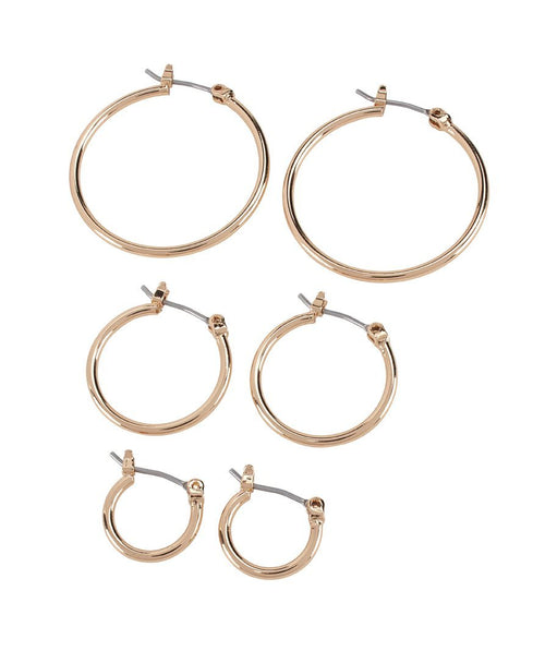 Gold  triple hoop set (BSJ3544)