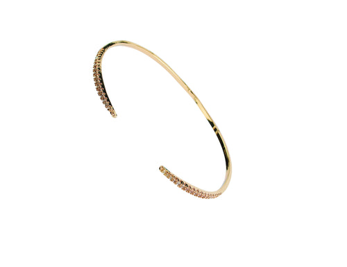 Dainty gold cuff with crystals (BSJ3546)
