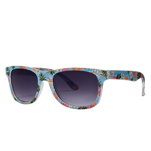 Kids Plastic Square Frame Printed Sunglasses