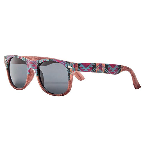 Kids Wayfarer Aztec Printed Frame With Smoke Lens (Bsk1821)