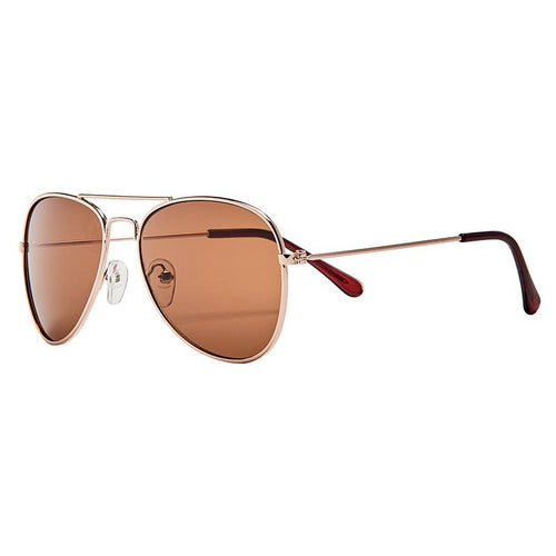 KIDS METAL CORE AVIATOR WITH BROWN LENS (BSK1824)