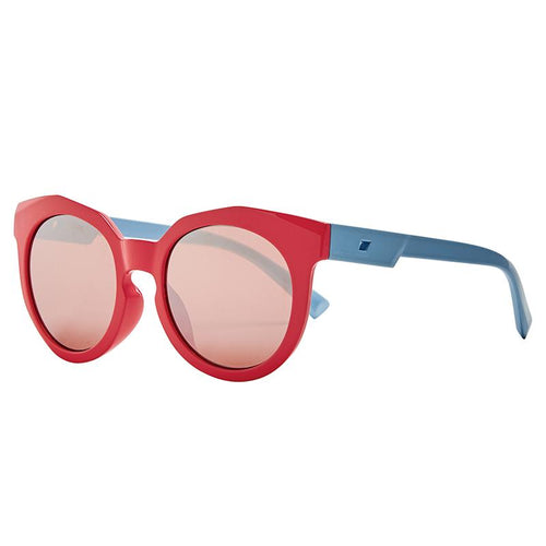 KIDS ROUNDED CAT EYE COLORBLOCK WITH ROSE GOLD MIRROR LENS  (SK1827-K)