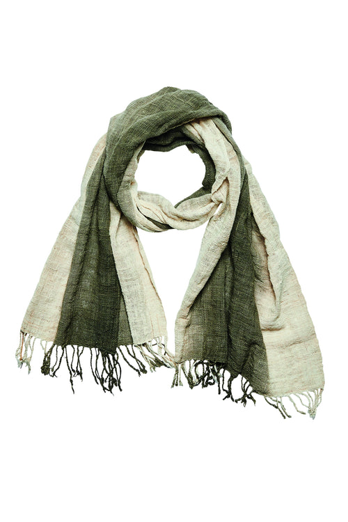 Ombre plant dyed cotton black scarf (BSS1091)