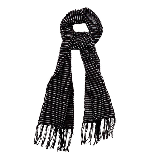Women's Eyelash Knit Scarf w/ Metallic Yarn (BSS3602)