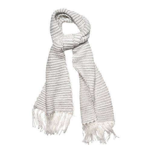 Women's Eyelash Knit Scarf w/ Metallic Yarn (BSS3602) - FS