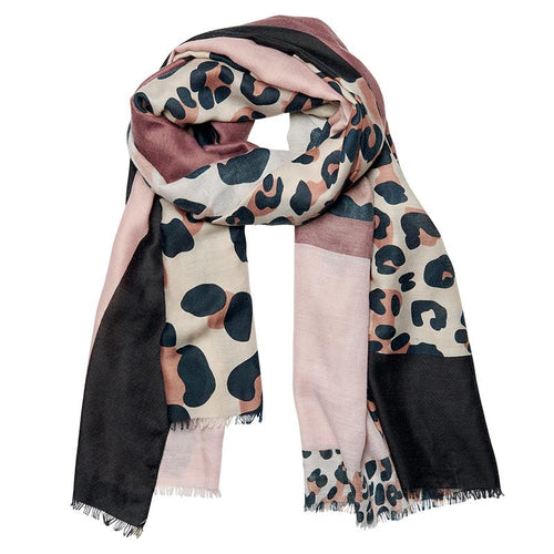 WOMENS LIGHTWEIGHT MIX COLOR ANIMAL PRINT SCARF (BSS3701)