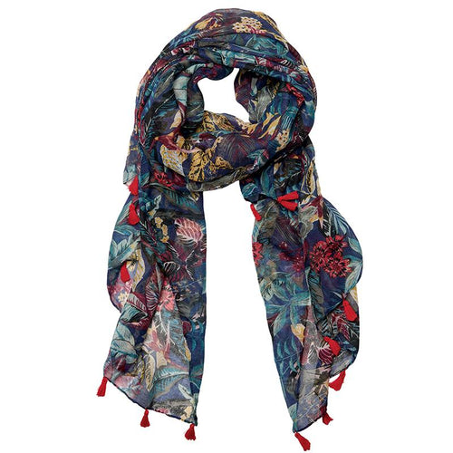 LIGHTWEIGHT TROPICAL PRINT SCARF  (BSS3717)
