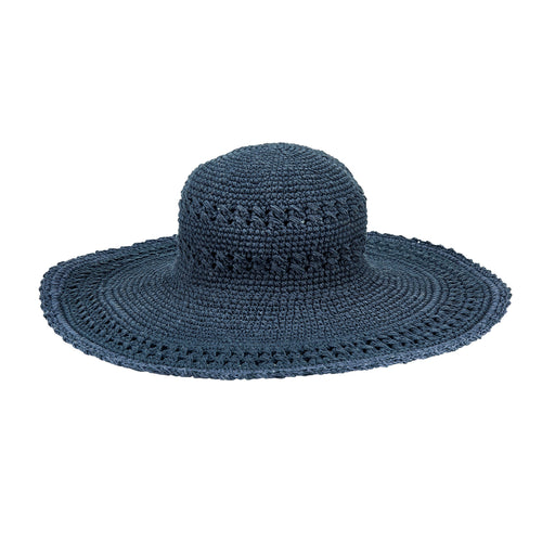 Women's Oversized Brim Crochet w/ Scalloped Edge