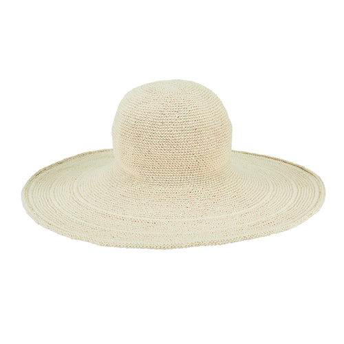 Women's Oversized Brim Crochet Sun Hat