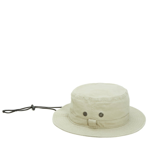 Mens Bucket Hat With Chin Cord And Wicking Sweatband - FS