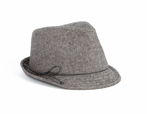 Womens Houndstooth Cord Fedora (CTH3716)