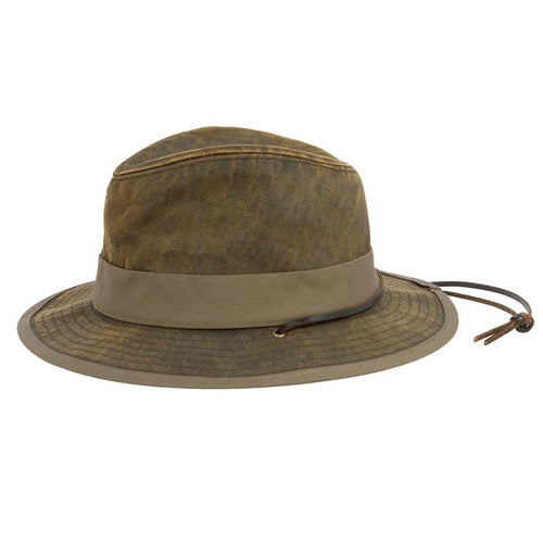 Mens Distressed Chincord Fedora (CTH3728OSBRN)