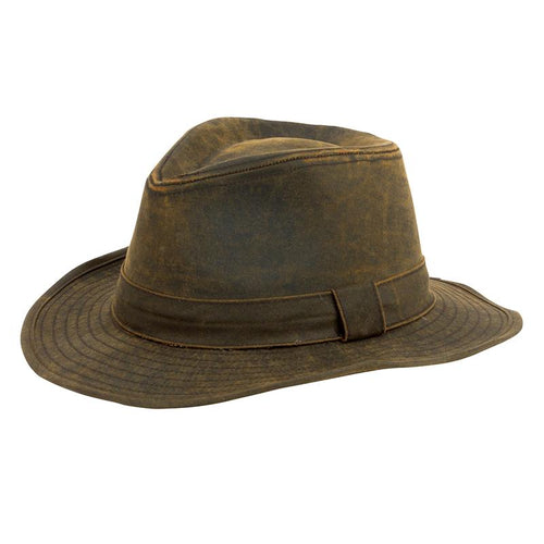 Mens Distressed Fedora (CTH3730OSBRN)