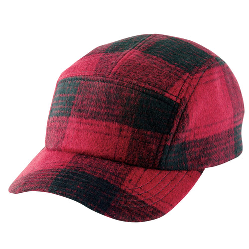 Mens Buffalo Plaid Camper With Adjustable Back (CTH8019)