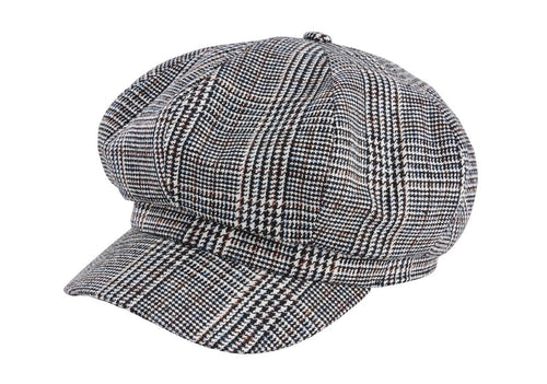 Women's glen plaid baker boy cap (CTH8167)
