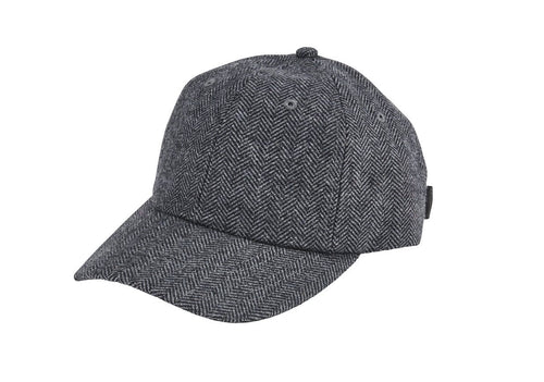 Women's herringbone ball cap with satin tie back (CTH8170)