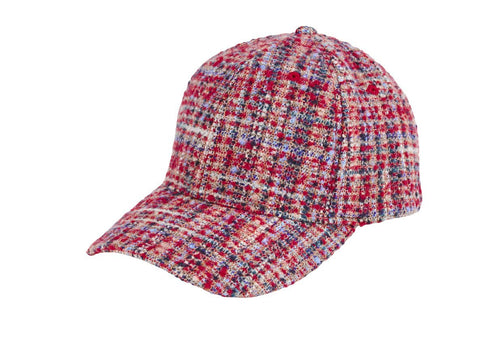 Women's tweed ball cap (CTH8172)