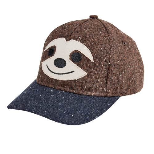 KIDS SMILING SLOTH BALL CAP (CTK3555)