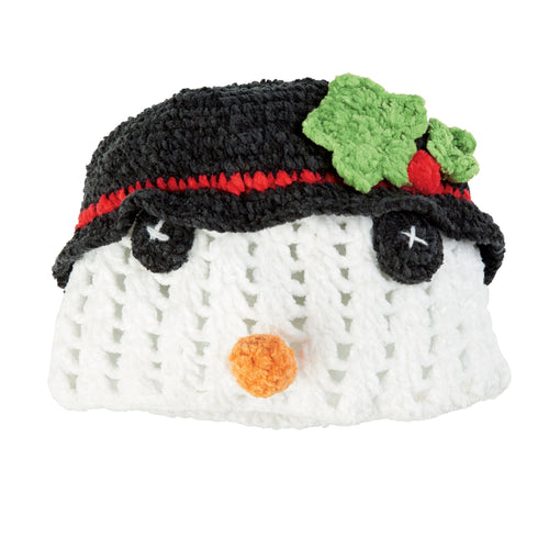 TODDLER CROCHET SNOWMAN HAT (DL2530)