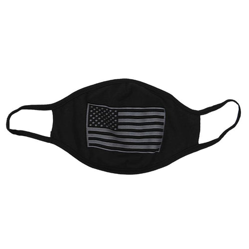 Black American Flag Face Cover