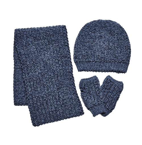CHENILLE KNIT SET W/ SCARF, BEANIE AND GLOVES (FWSET5002)