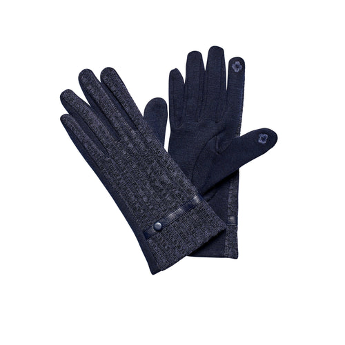 Women's Knit Ribbed Glove Velour Lining (KNG3608)