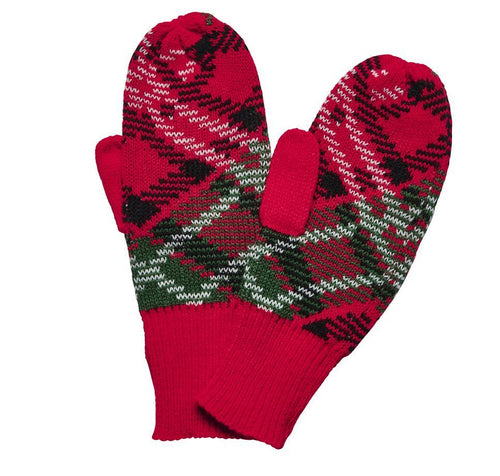 WOMEN'S PLAID MITTEN (KNG5003)