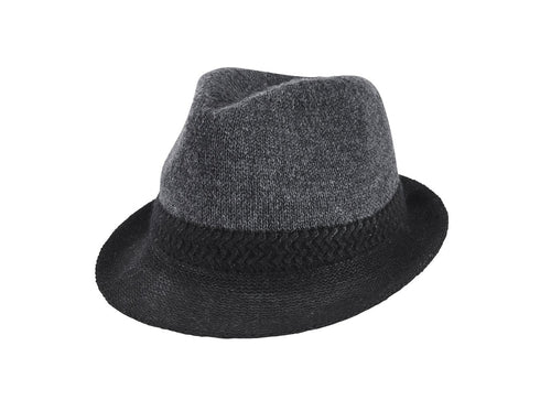 MEN'S COLOR BLOCK KNIT FEDORA (KNH2017)