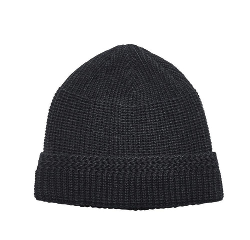 MEN'S SOLID CUFFED BEANIE (KNH2018)