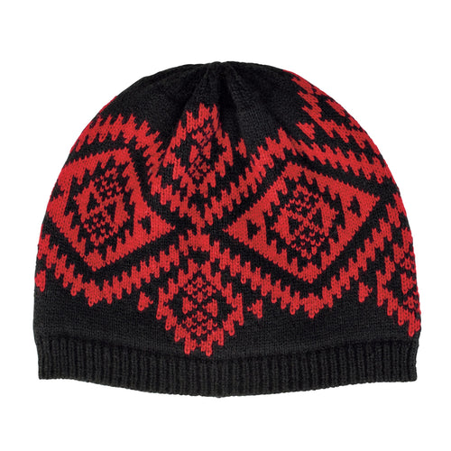 Womens Machine Knit Navajo Beanie