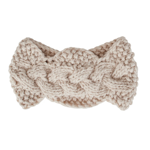 Womens Knit Rosette Headband (KNH3439)