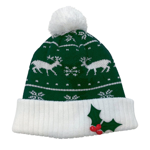Snowman & Applique Christmas Beanie (KNH3448)
