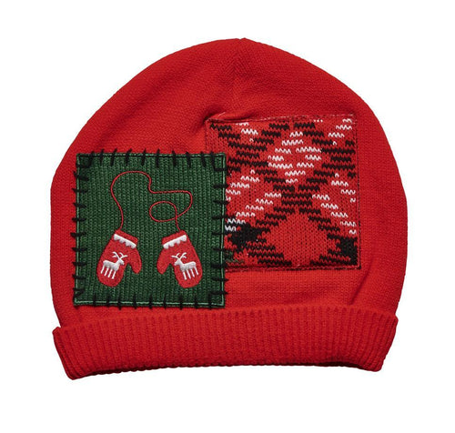 WOMEN'S HOLIDAY PATCH BEANIE (KNH5004)