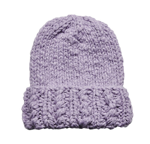 Women's chunky knit beanie with cuff (KNH5006)