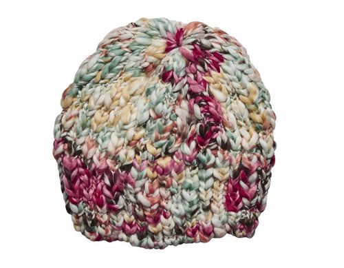 Women's multi color yarn beanie (KNH5012)