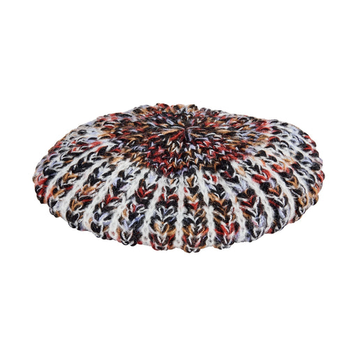 Women's multi color yarn beret (KNH5030)
