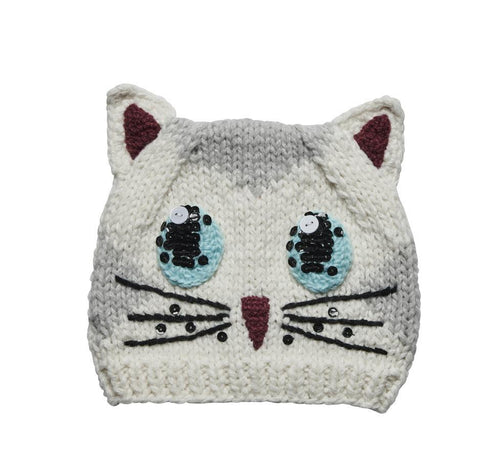 TODDLER SIDE EYE KITTY BEANIE (KNK2020)