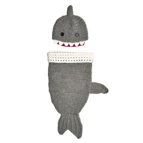 INFANT 0-3M KNIT SHARK SET (KNK3130)