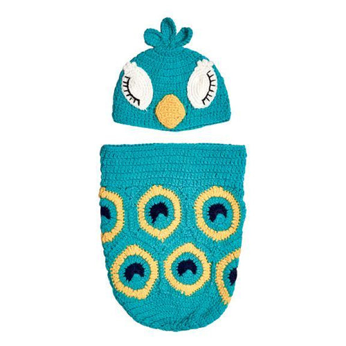 INFANT 0-3M KNIT PEACOCK SET(KNK3132)